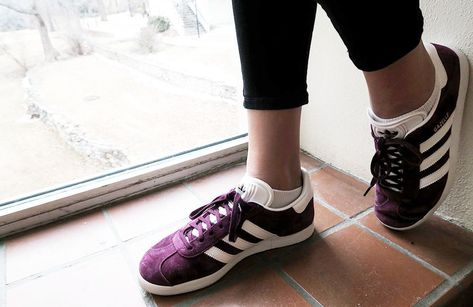 31fde35fe797 Purple adidas sneakers on campus at Kansas State University  Sneakers