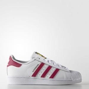 grossiste 4cf3b 6b54d Adidas Superstar blanc et rose pour femme et enfan ...