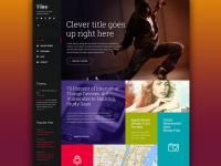 Tile-like layout. WP theme by Hernan Vionnet