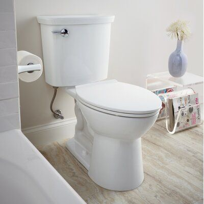 American Standard Vormax 1 Gpf Elongated Two Piece Toilet Seat