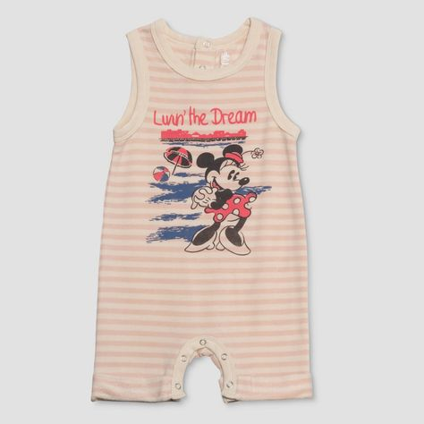 DISNEY JUNK FOOD MINNIE MICKEY MOUSE BABY ROMPER BODYSUIT OUTFIT SIZE 6-9 MONTHS