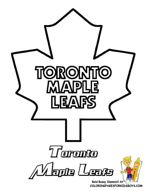 Toronto Maple Leafs Hockey Free Coloring Pages Nhl Hockey East