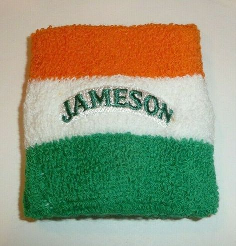 NEW! JAMESON IRISH WHISKEY HEADBAND FUZZY SWEATBAND IRELAND FLAG COLORS