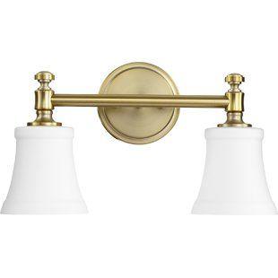 Brass Bathroom Vanity Lighting You Ll Love Wayfair With Images
