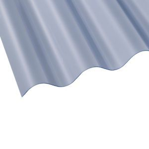 Clear Corrugated Pvc Roofing Sheet 1 83m X 762mm Pack Of 10 Pvc Roofing Sheets Roofing Sheets Plastic Roofing