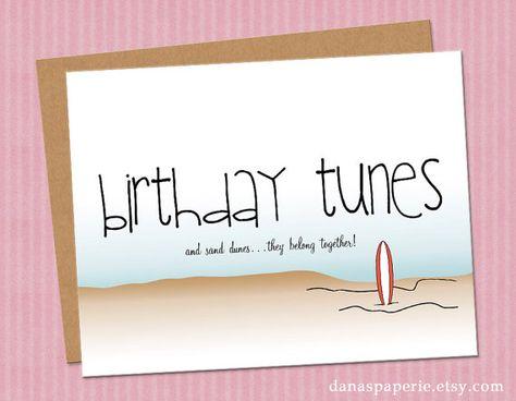 Cute beach birthday card!