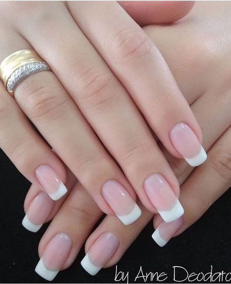 79 Cool French Tip Nail Designs Uñas De Gel Blancas