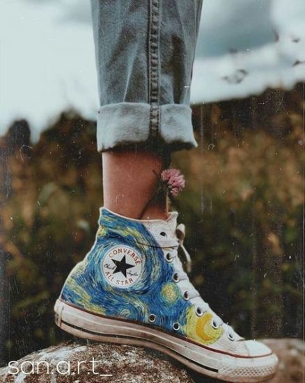 70 Ideas For Diy Art Pictures Products Painted Converse Aesthetic Shoes Art Clothes