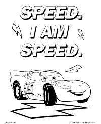 disney cars lightning mcqueen coloring page