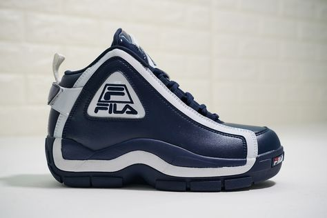 2be5aedc67 FILA 96 GRANT HILL RETRO MID BASKETBALL FOOTWEAR NAVY BLUE FHE101 03  #kantina #coffee