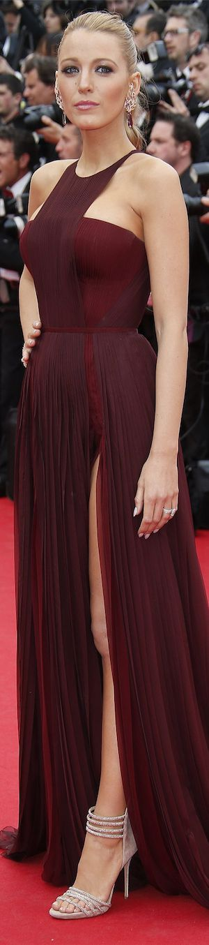 Blake Lively in Gucci Première at the Cannes Film Festival 2014