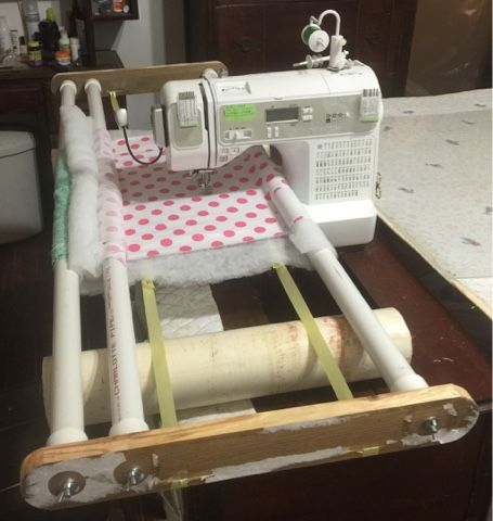 Vera's Custom Quilts: DIY Free Motion Quilting Frame Note to ... : homemade quilting frame - Adamdwight.com