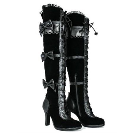 Women Thigh High Victorian Style Boots