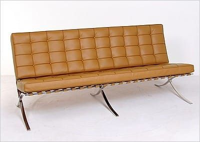 Mies Van Der Rohe Style Exhibition Sofa Modern Leather Sofa