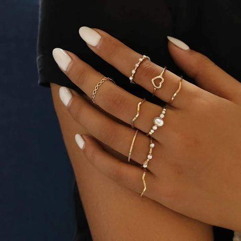 Hand Jewelry, Cute Jewelry, Jewelry Gifts, Jewelry Bracelets, Jewlery, Jewellery Rings, Trendy Jewelry, Dainty Jewelry, Handmade Jewelry