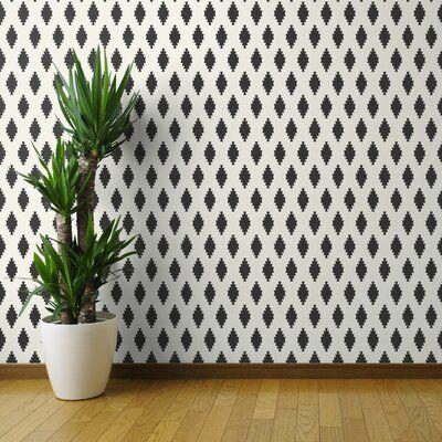 Brayden Studio Forkland Diamond Kilim Peel And Stick Wallpaper Panel Size 144 L X 24 W Southwestern Wallpaper Wallpaper Panels Brick Wallpaper Roll