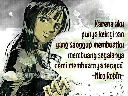 Quotes Of Sanji Anime Onepiece By Rhey Mursalim Bijak Robin