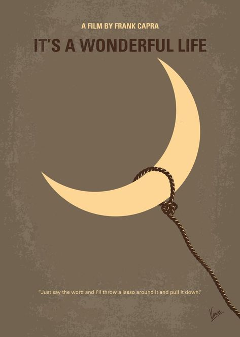 No700 My Its a Wonderful Life minimal movie poster An