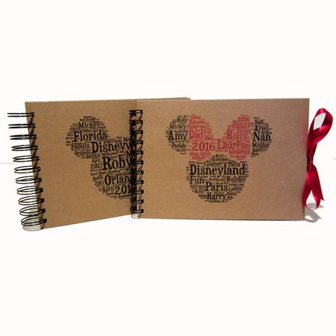 PERSONALISED DISNEY Autograph book A5 PLANNER FLORIDA PARIS MINNIE MICKEY MOUSE