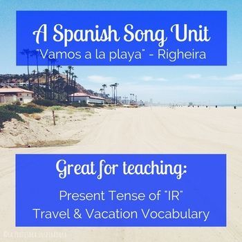 Click For An Activity Packet To Accompany Vamos A La Playa A Great Song For Comprehensible Input Spanish Lesson Plans Spanish Songs High School Lesson Plans