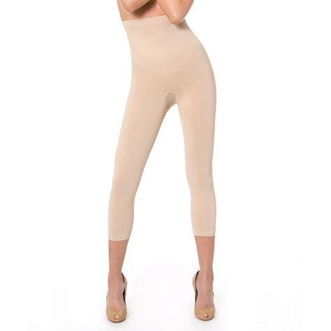 11c122e91df2d N-Fini Nude High-Waist Shaper Capri Leggings (€39) ❤ liked on Polyvore  featuring pants