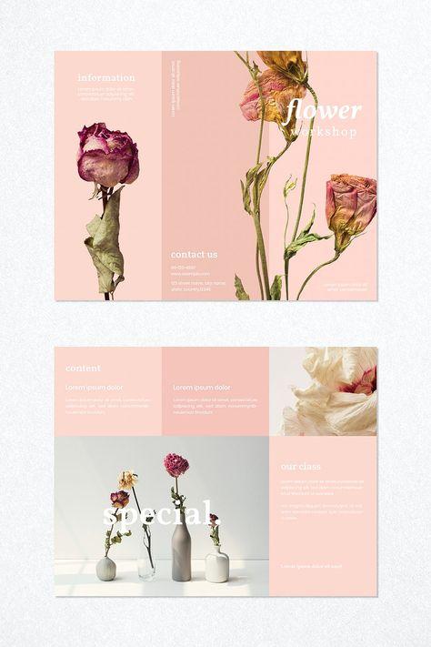 Download premium vector of Flower workshop brochure template vector 2397614