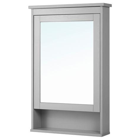 Hemnes Spiegelschrank 1 Tur Grau Mit Bildern Badezimmer