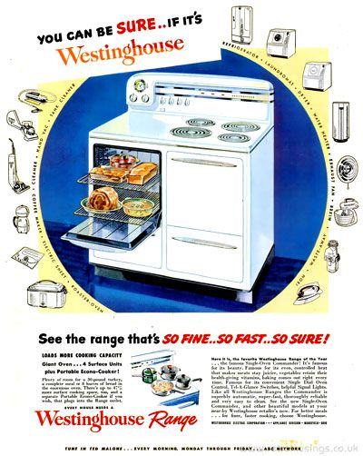 Westinghouse Kitchen Appliance Adverts 1946 1949 With Images