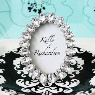 Antique Acrylic Place Card Frame