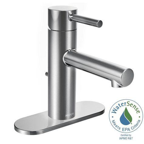 Moen Align Single Hole Single Handle Bathroom Faucet In Chrome