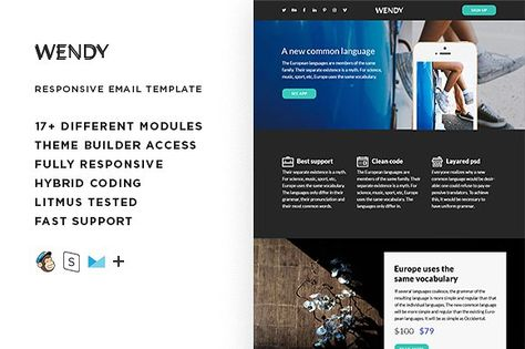 Wendy – Responsive Email template