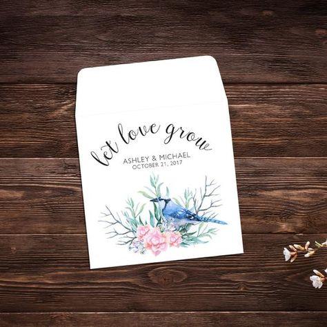 Seed Packet Favor, Let Love Grow, Wildflower # #seedpackets #seedfavors #weddingfavors #weddingseedfavor #weddingseedpackets #seedpacket #weddingfavor #seedfavor #seedpacketenvelope #seedpacketfavor #wildflowerseeds #floralfavor #bridalshower