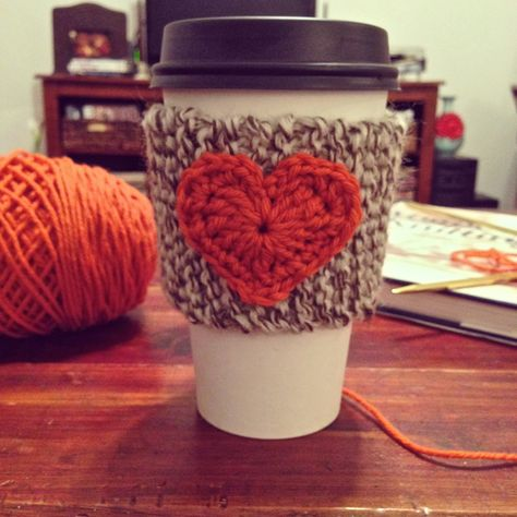 Handcrafted Vintage Garter Stitch Cup Cozy Coffee Hot Cold