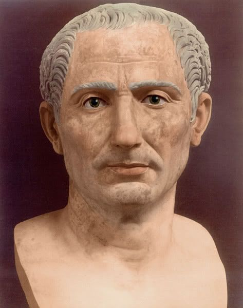 Colourized Bust Of Julius Caesar With Images Ancient Statues