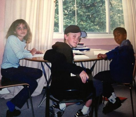 Tom Felton Shares Throwback Photo with Harry Potter Costars Emma Watson and Alfred Enoch
