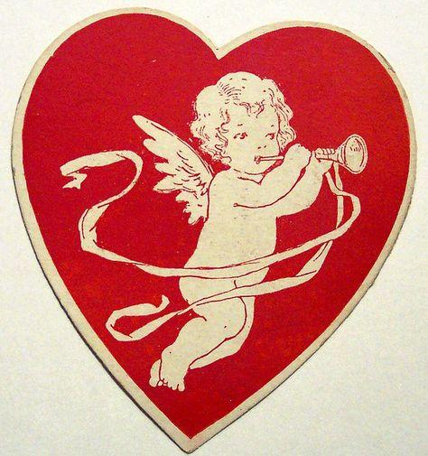 ♡ Your Heart is Mine, Valentine ♡ vintage cupid heart My Funny Valentine, Valentine Images, Vintage Valentine Cards, Saint Valentine, Vintage Cards, Vintage Postcards, Vintage Images, Happy Valentines Day, Valentine Cupid