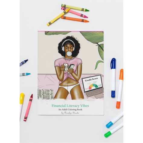 Financial Literacy Vibes Adult Coloring Book-Hard Copy