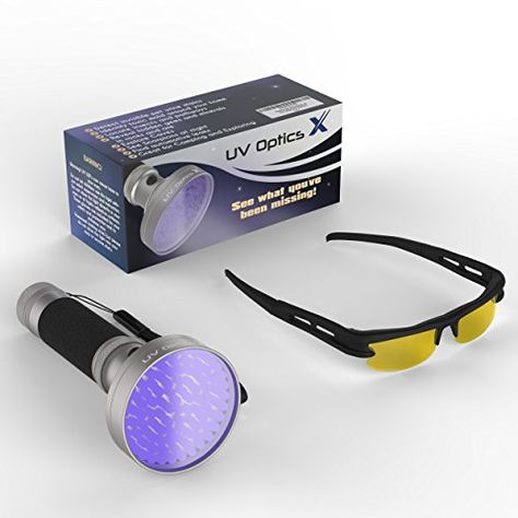 Powerful LED Ultraviolet Black Light Flashlight Detects Bed