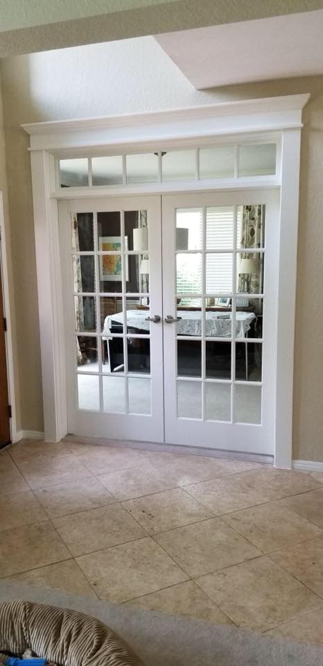Interior French Door With Transom Installed By Kgk Home