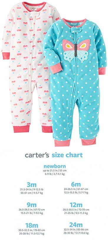 Fleece Leggings Carters Baby Girls 2-Pk