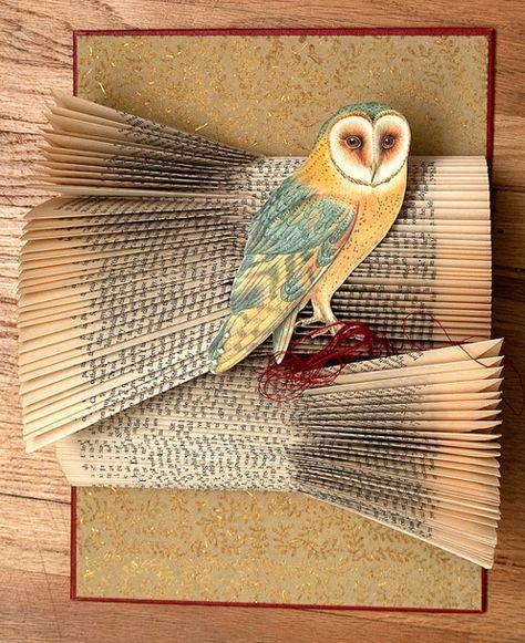 Altered Art Book #owl #book #altered #art #paper #sculpture