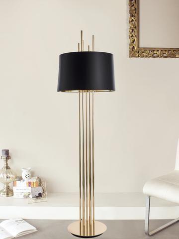 Mildred Gold Floor Lamp Contemporary Floor Lamps Modern Floor Lamps