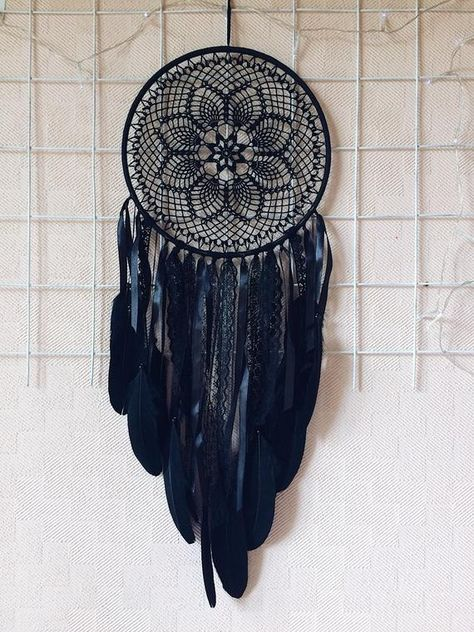 Each dreamcatcher is unique and created with love, friendly feelings and much care. It takes from 4 to 7 days to make a catcher. As soon as its ready, the catcher is sent to a customer.  Diameter of hoop: 24 cm (9,4 inches) The length: about 65 cm (25,6 inches)  Materials: wooden hoop, cotton yarn,