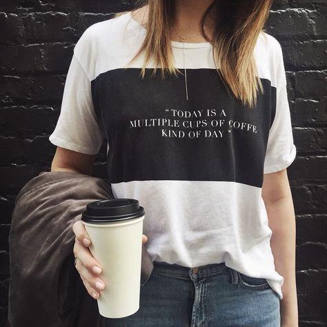 ...Bon lundi! #lookdujour #ldj #coffee #monday #vibes #tired #morning #t-shirt #cozy #comfy #style #streetstyle #inspiration #regram @shopstyle
