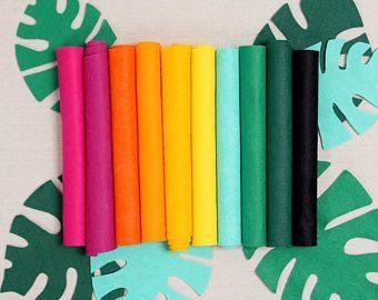 Benzie Design On Etsy Tropical Colors Felt Sheets Vibrant Colors