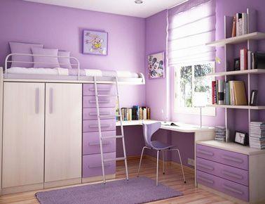 Chambre ado fille à la déco couleur parme | chambre enfant | Pinterest
