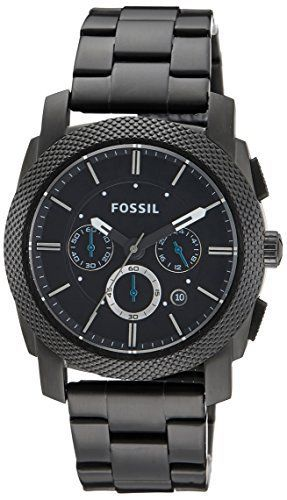 Super Fossil Herren Fs4552 Maschine Schwarz Edelstahl Herren Uhr Uhren Herren Coole Uhren Herrenuhr Leder