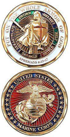 Marine Corps Armor of God Challenge Coin Marine Corps Challenge Coins http://www.amazon.com/dp/B007HBM6F2/ref=cm_sw_r_pi_dp_flB0tb16VMMWSC4X