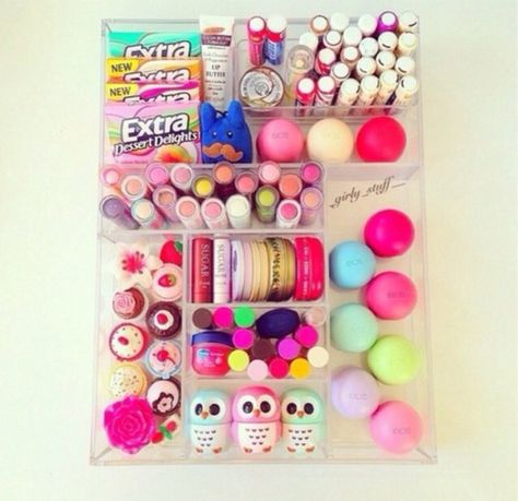 Dude, she has like all the baby lips, eos, and the little owls from forever Chapstick heaven. My New Room, My Room, Dorm Room, Rangement Makeup, Eos Lip Balm, Lip Balms, Baby Lips, Just Girly Things, Girly Stuff