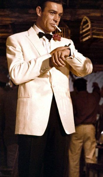 Sean Connery White Tuxedo Goldfinger James Bond Suit James Bond Suit Sean Connery James Bond James Bond Movies